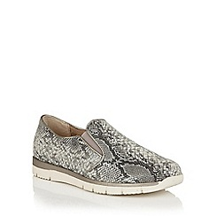 Lotus - Black snake print 'Lucia' slip on shoes
