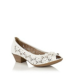 Lotus - White 'Jucunda' peep toe courts