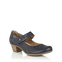 Lotus - Blue 'Lavendula' Mary-Jane shoes