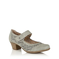 Lotus - Pewter 'Lavendula' Mary-Jane shoes