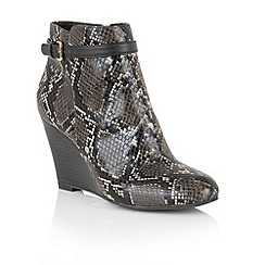 Lotus - Black 'Aiken' animal print shoe boots