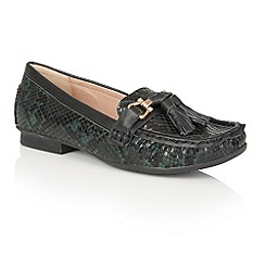 Lotus - Green 'Chalina' animal print loafers