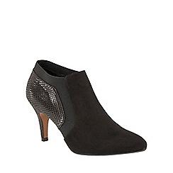 Lotus - Black 'Angelonia' animal print shoe boots