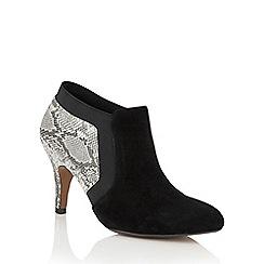 Lotus - Grey 'Angelonia' animal print shoe boots