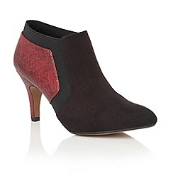 Lotus - Red 'Angelonia' animal print shoe boots