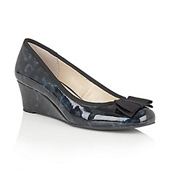 Lotus - Blue shiny tortoiseshell 'Rea' wedges