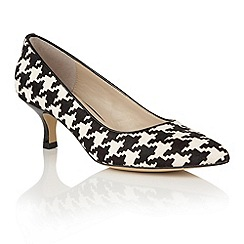 Lotus - Black houndstooth print leather 'Ginny' courts