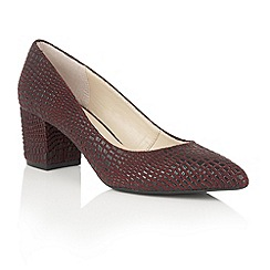 Lotus - Red 'Alaura' animal print courts