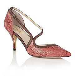 Lotus - Red 'Hanako' animal print courts