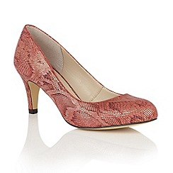 Lotus - Red 'Colombina' animal print courts