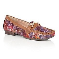 Lotus - Multicoloured leather 'Albena' loafers
