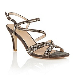 Lotus - Metallics 'Hibiscus' diamante open toe sandals