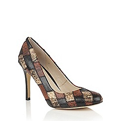 Lotus - Brown 'Ette' animal print courts