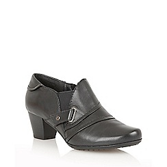 Lotus - Black leather 'Celt' shoe boots