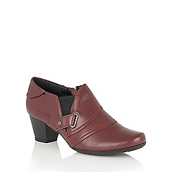 Lotus - Red leather 'Celt' shoe boots