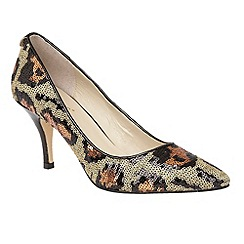 Lotus - Leopard sequins 'Mosta' pointed toe courts