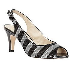 Lotus - Black sequins 'Palladia' sling back courts