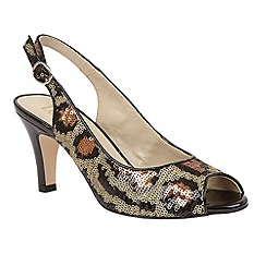 Lotus - Leopard sequins 'Palladia' sling back courts