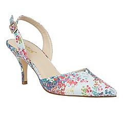 Lotus - Blue 'Mirante' pointed toe sling back courts