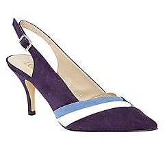 Lotus - Blue 'Dulina' sling back courts