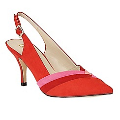 Lotus - Red 'Dulina' sling back courts
