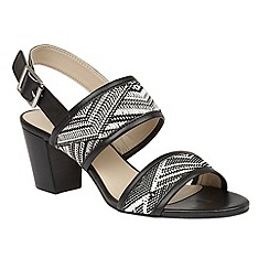Lotus - Black multi rafia 'Alaska' sandals