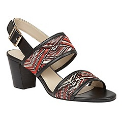 Lotus - Red multi rafia 'Alaska' sandals