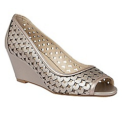 Lotus - Pewter metallic 'Valetta' laser cut wedges