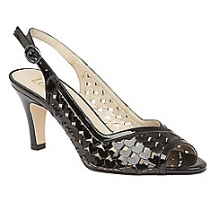 Lotus - Black shiny 'Canaan' sling back courts