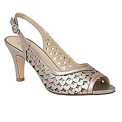 Lotus - Pewter metallic 'Canaan' sling back courts