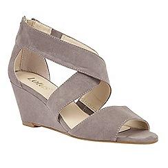 Lotus - Grey 'Cheeney' wedge sandals