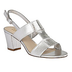 Lotus - Silver leather 'Perifollo' sling back sandals