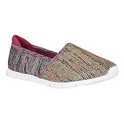 Lotus - Pink multi 'Roka' loafers