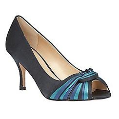 Lotus - Blue 'Gilberto' peep toe courts