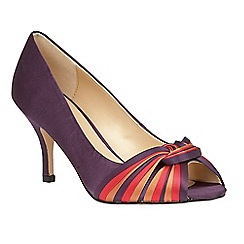 Lotus - Purple 'Gilberto' peep toe courts