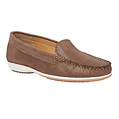 Lotus - Bronze leather shimmer 'Conforti' loafers