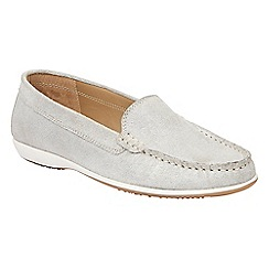 Lotus - Silver leather shimmer 'Conforti' loafers