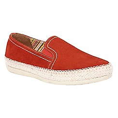 Lotus - Orange suede 'Caputi' espadrilles