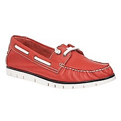 Lotus - Red leather 'Silverio' boat shoes