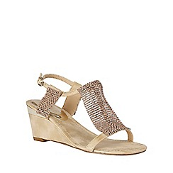 Lotus - Gold chainmail 'Klaudia' wedge sandals