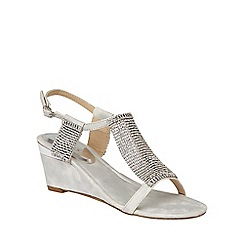Lotus - Silver chainmail 'Klaudia' wedge sandals