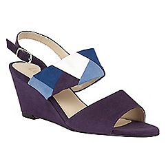 Lotus - Blue 'Alpha' wedge sandals