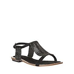 Lotus - Black chainmail 'Agnetha' sandals