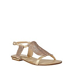 Lotus - Gold chainmail 'Agnetha' sandals