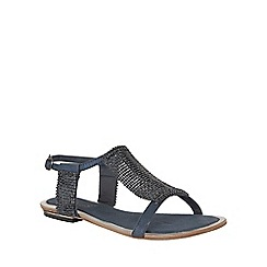 Lotus - Navy chainmail 'Agnetha' sandals