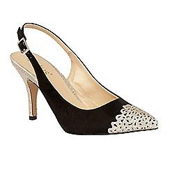 Lotus - Black 'Arlind' glitz heels