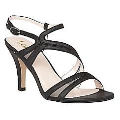 Lotus - Black 'Hendren' strappy high heel sandals