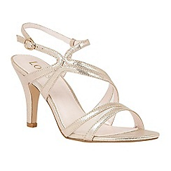 Lotus - Gold 'Hendren' strappy high heel sandals