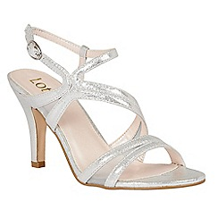 Lotus - Silver 'Hendren' strappy high heel sandals