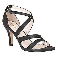 Lotus - Black shimmer 'Gabby' strappy heels